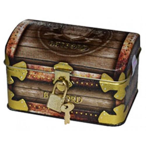Цейлонского чая упакованного в пиратский сундук с замком и ключом.