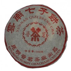 Китайский ПУЭР Куйминский завод блин,100 гр